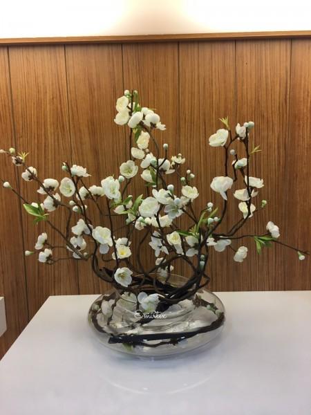 Kunstblume in Vase H 40cm
