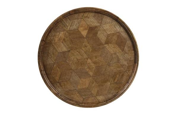 Holz Tablett Bauta gross groß 50x3 cm