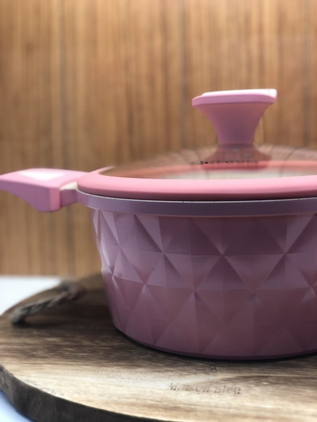 8 tlg Topfset Granit rosa Kochset Induktion geeignet