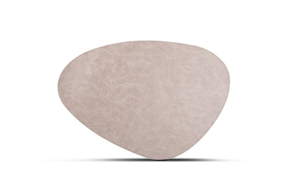 Platzset oval Lederlook taupe