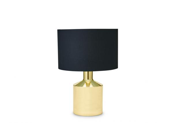 Lampe Gold Schwarz mit Lampenschirm 58 cm