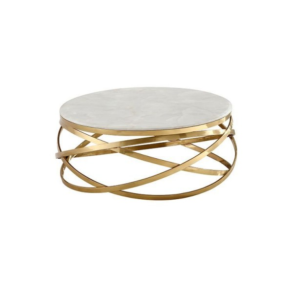 Trento gold marble Couchtisch 100 cm