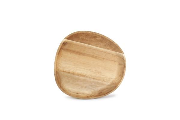 Servierbrett Holz oval 20x19cm Akazienholz oval Palla