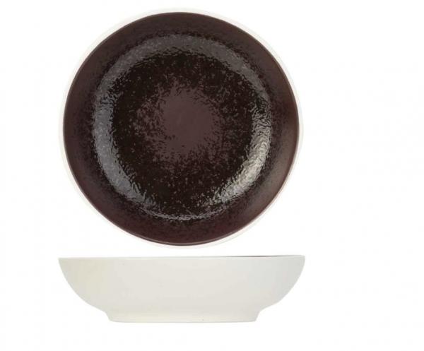 Schälchen weiss Aubergine 9,5x H2,5 cm