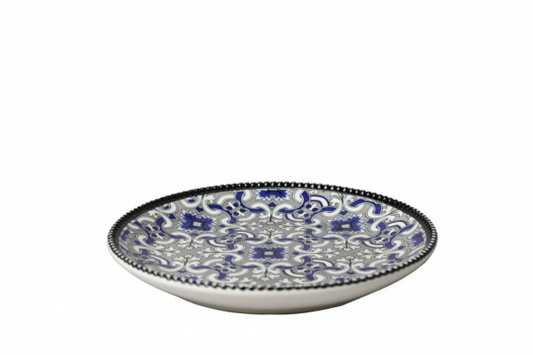 Marrakesch Black Teller 20 cm schwarz blau