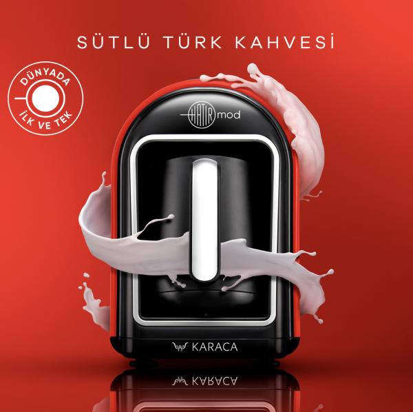 Karaca Hatir Mod türkische Kaffeekocher red rot