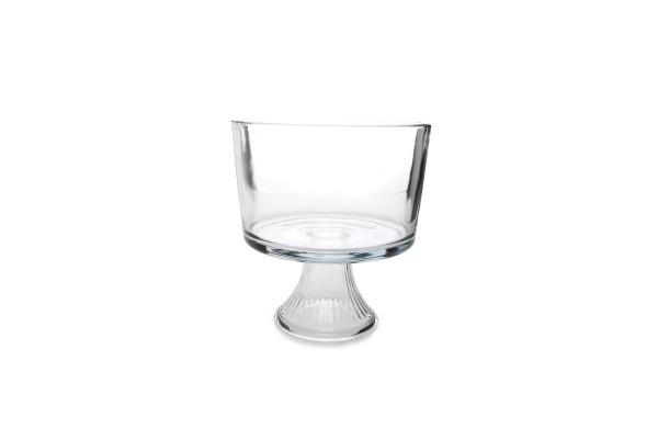 Glas Schüssel auf Fuß 3L Servierschüssel