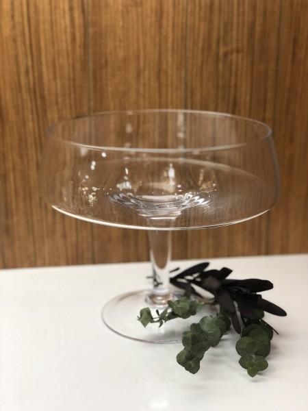 Glas Schale mit Fuß 21x H 20,5 cm