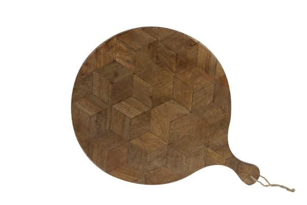 Brett Minto groß Servierbrett dunkel braun 40x2x 52,5 cm
