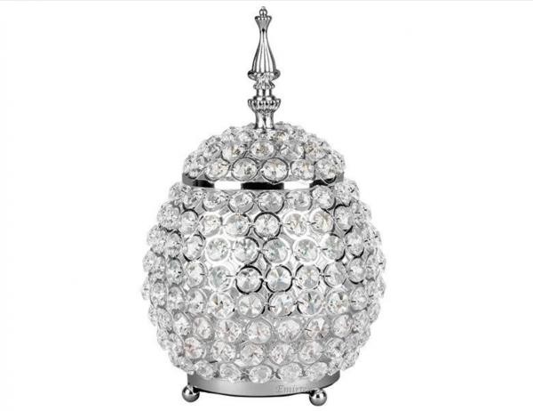 Kristall Bonboniere Deko Silber Strass