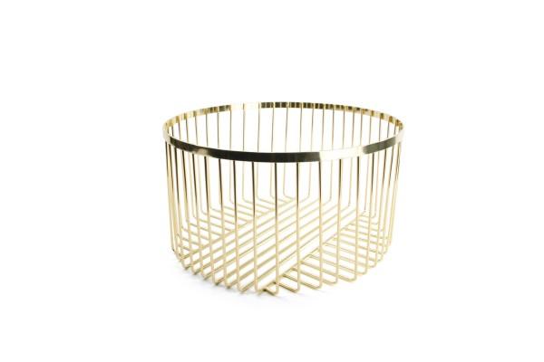 Drahtkorb gold 30xH16 cm Mazy rund