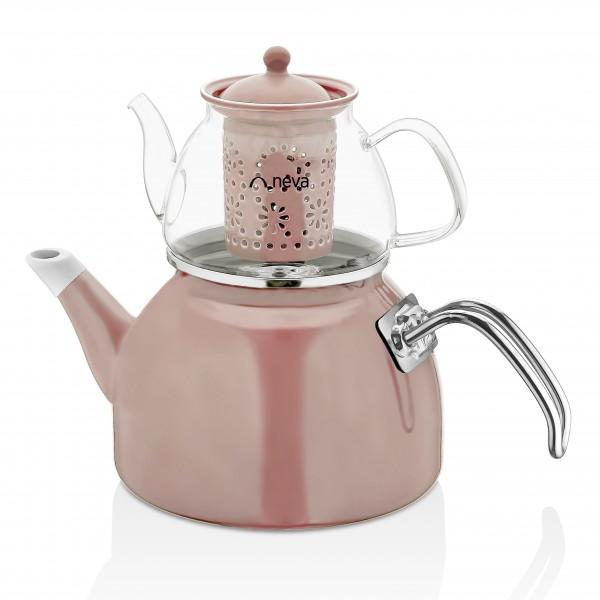 Neva Rose Chocolate Glas Teekanne
