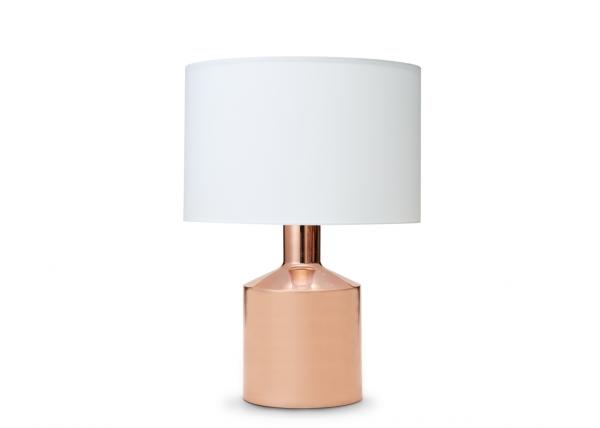 Lampe Kupfer Rosegold mit Lampenschirm 58 cm
