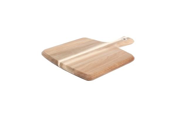 Servierbrett 29x22 cm aus Akazienholz mit griff