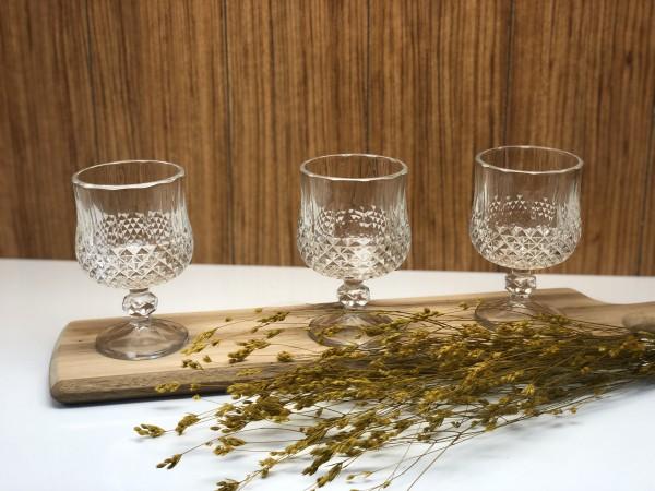 Trinkgläser mit Stiel in Kristalloptik 12 tlg. Dessertglas
