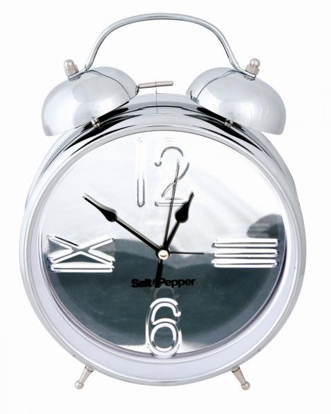 Uhr mit Alarmfunktion 25cm silber Zone