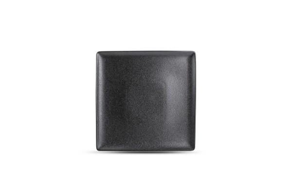 Black dussg Teller flach 26x26 cm quadratisch