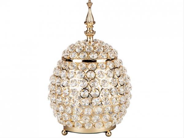 Kristall Bonboniere Deko Gold Strass