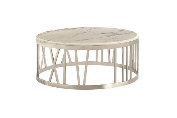 Roma silber Couchtisch Marble design 100 cm