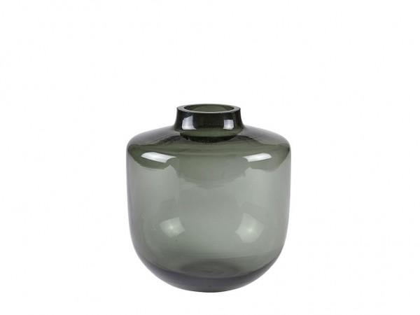 Glas Vase Smoked Glas Grau 16x D 15 cm S