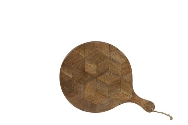 Brett Minto Servierbrett dunkel braun 30x2x42,5 cm