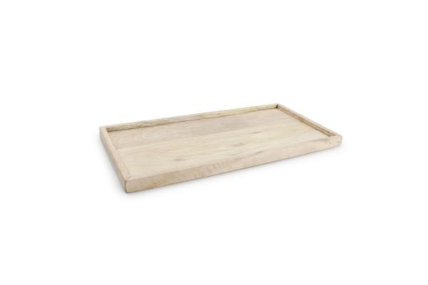 Holz Tablett mit Rand rechteckig 36x18xH2 cm