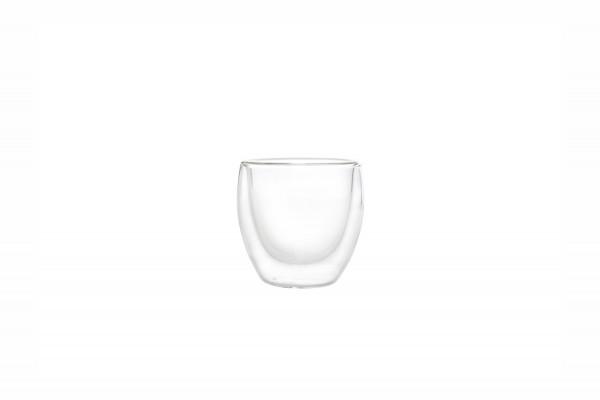 Mokkatasse 0,09L doppelwandig Glas