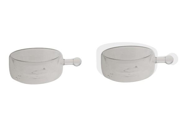 Small Isolate Bowlmit Henkel doppelwandig 2er Set Schälchen