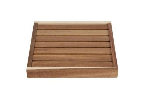 Serviertablett aus Akazienholz 25x25x3 cm