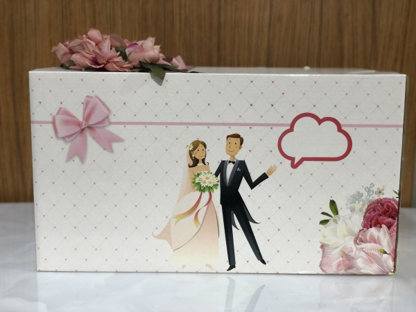 Ceyiz Kolisi Mitgift Karton Mr Mrs rosa