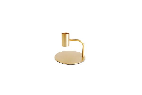 Kerzenständer gold pillar 10xH8 cm