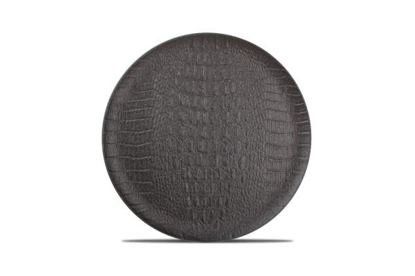 Croco Teller flach 27 cm schwarz black