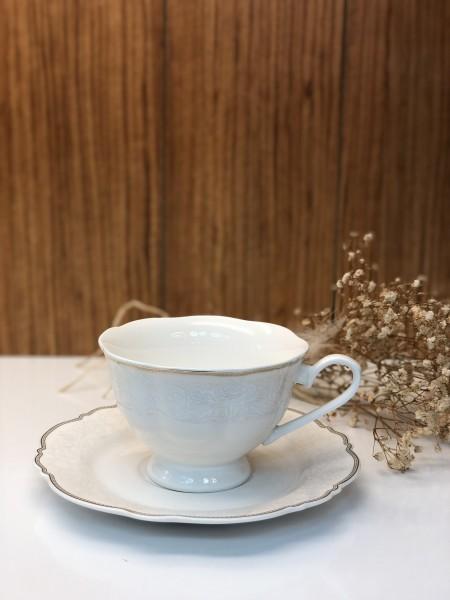 Kaffeetassen 6er Set 003 mit Verzierung
