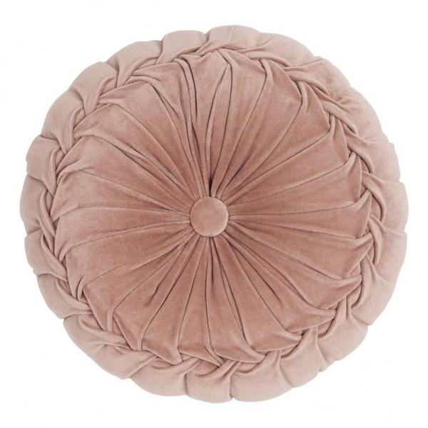 Samtkissen rund Kanan Velvet Soft Pink