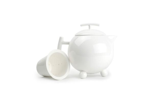 Porzellan Teekanne mit Filter 1 L Squito