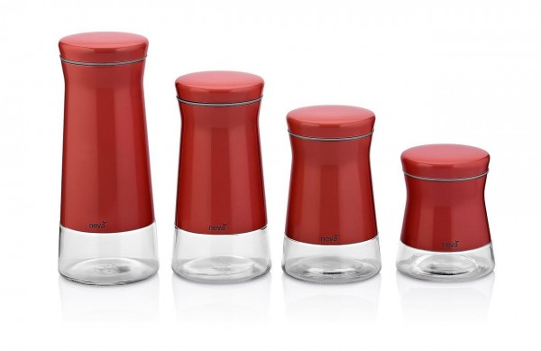 Neva Sweet Serie rot Aufbewahrung Vorratsgläser Set N2395