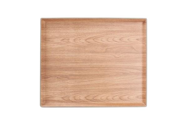 Tablett Holzoptik rechteckig 41,5x 34,5 cm