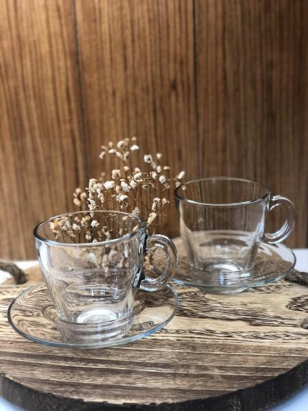 Pasabahce Aqua 6er Tassen Set Kaffeetasse Teegläser