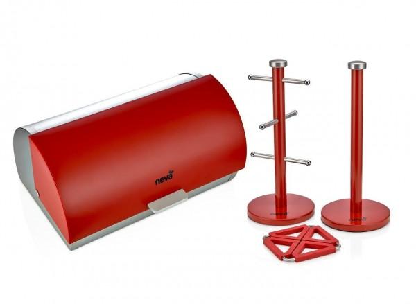 Neva Sweet Serie Rot N984 Brotkasten Set