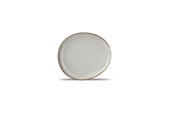 Dessert Teller 21x8,5cm Ceres grau