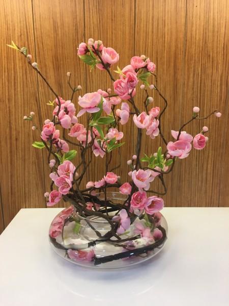 Kunstblume in Vase rosa