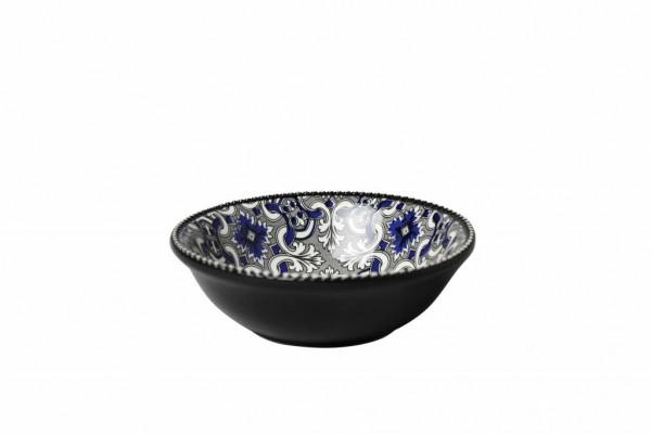 Marrakesch Black Schüssel 15,5x H 5 cm Schälchen schwarz blau