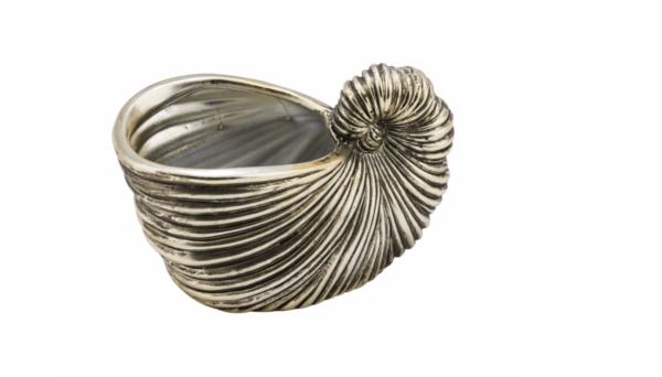 Dekomuschel gold Keramik klein 14x8x9,5 cm S