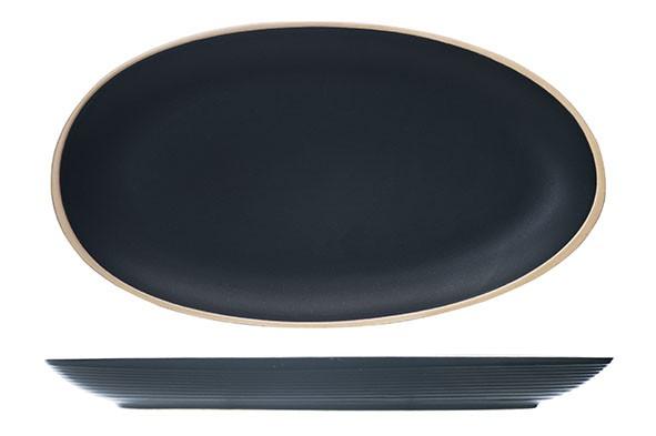Gallow black Servierplatte schwarz matt 29.5X16CM