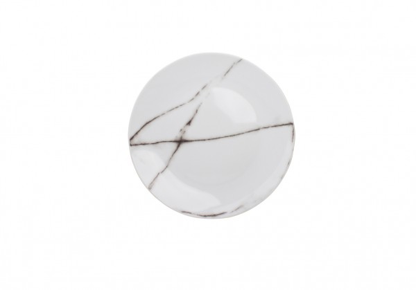 Servierteller 26,5 cm 4er Set Marble Marmor
