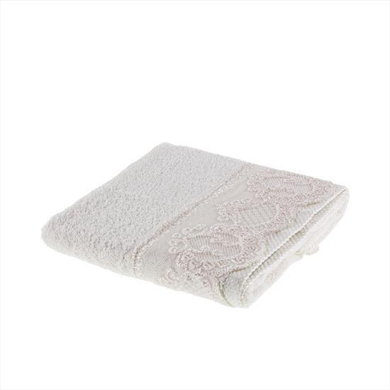 Tac Lace Handtuch mit Spitze 50x90 cm beige