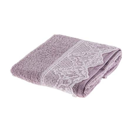 Tac Lace Handtuch mit Spitze 50x90 cm lila