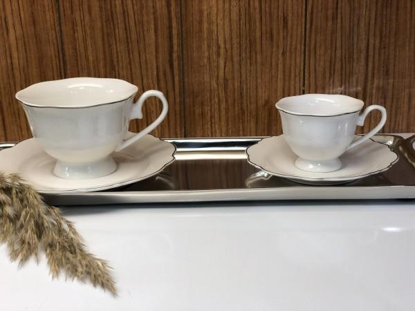 Aras Kaffeetassen mit Verzierung 12tlg.