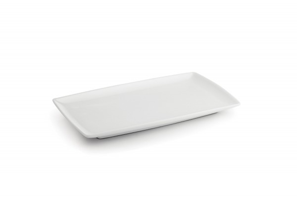 Porzellan Platte 24x13cm Squito rechteckig