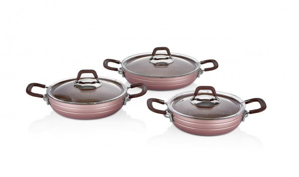 Neva Sweet Serie Rose Granit Omelett Topset N2537 3er Set